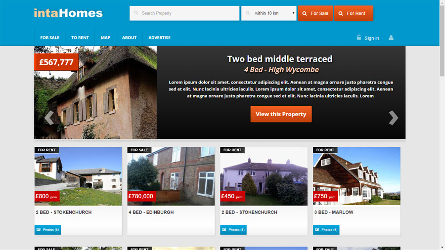 Property Website Theme